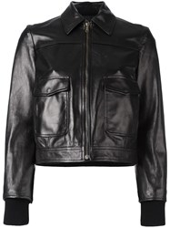Red Valentino Back Patches Jacket Black