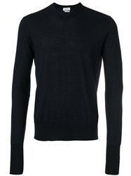 Ballantyne V Neck Jumper Men Silk Cashmere 58 Blue