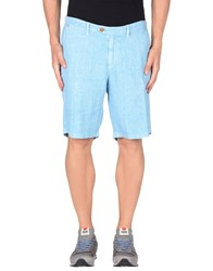 Seventy By Sergio Tegon Trousers Bermuda Shorts Men Sky Blue