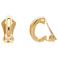 Finesse Small Hoop Clip On Earrings Gold