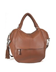 Sanctuary Leather Satchel Bag Maple
