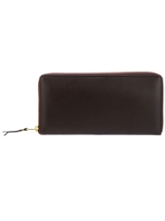 Comme Des Garcons Play Long Zipped Wallet Brown