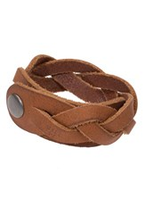 Men's Will Leather Goods 'District' Bracelet Tan