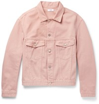Cmmn Swdn Brody Cropped Denim Jacket Pink