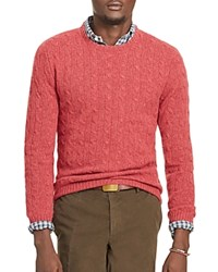 Polo Ralph Lauren Cashmere Cable Knit Sweater Persimmon