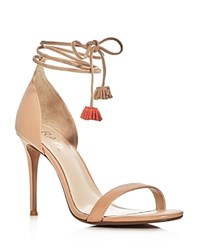 Raye Betsy Ankle Tie High Heel Sandals Nude