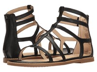 Hush Puppies Abney Chrissie Lo Black Leather Women's Sandals