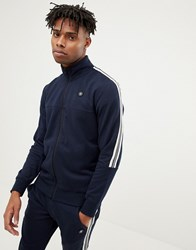 Jack And Jones Core Jersey Track Top With Arm Stripe Sky Captain Navy