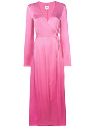 Jovonna Maxi Wrap Dress Pink And Purple