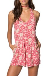 O'neill Women's Avis Halter Romper Holly Berry