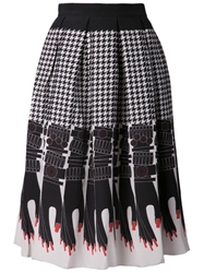 Holly Fulton 'Handy' Print Skirt Black