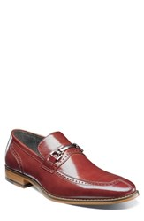 Stacy Adams Tanner Brogued Bit Loafer Cognac Leather
