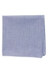 Men's Todd Snyder White Label Chambray Cotton Pocket Square Blue