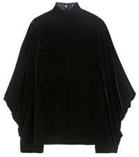 Tom Ford Velvet Turtleneck Top Black
