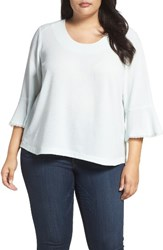 Melissa Mccarthy Seven7 Plus Size Women's Ruffle Sleeve Skimmer Top