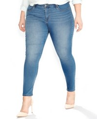 Levi's Plus Size 310 Shaping Super Skinny Clear Sky Wash