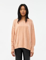 Which We Want Marti Speckled Oversized Sweater In Pink