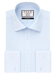 Thomas Pink Frederick Wide Collar Plain Double Cuff Slim Fit Shirt Pale Blue