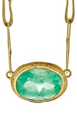 Judy Geib Women's Colombian Emerald Echo Necklace Colorless
