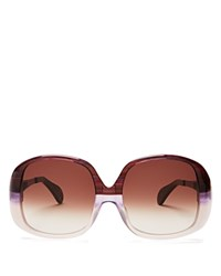 Wildfox Couture Liz Oversized Square Sunglasses 59Mm Grapevine Purple Brown Gradient