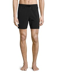 Theory Cosmos Solid Swim Trunks Black Men's