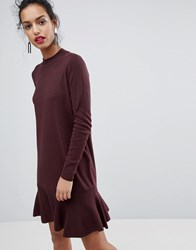 Y.A.S Media Knit Skater Dress Decadent Chocolate Brown