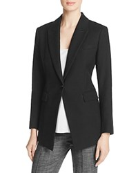 Theory Etiennette Cotton And Linen Blazer Black