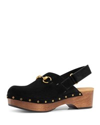 Gucci Amstel Suede Clog Taupe