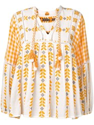 Dodo Bar Or Embroidered Blouse White