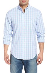 Vineyard Vines Friendly Island Classic Fit Stretch Check Sport Shirt Sea Urchin
