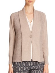 Peserico Textured Single Button Cardigan Beige