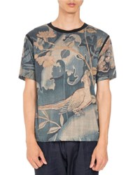 Dries Van Noten Hatha Short Sleeve T Shirt Dark Green