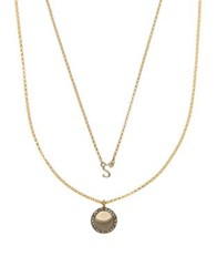 Ivanka Trump Two Piece Crystal S And Round Pendant Necklace Set Gold