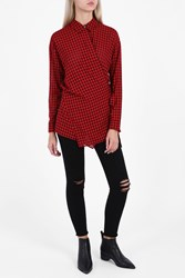 Alexander Wang Wrap Tie Blouse Red