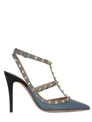 Valentino 100Mm Rockstud Two Tone Leather Pumps