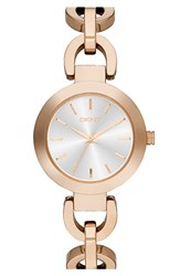 Women's Dkny 'Stanhope' Chain Link Bracelet Watch 28Mm Rose Gold