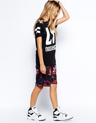 Criminal Damage Basketball Shorts With All Over Flower Print Multi