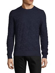 Saks Fifth Avenue Black Textured Crewneck Sweater Charcoal