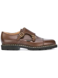 Paraboot Double Buckle Monk Shoes Brown
