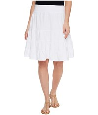 Fresh Produce Jersey Tiered Skirt White