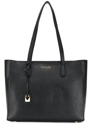 Michael Kors Logo Large Tote Bag Leather Black