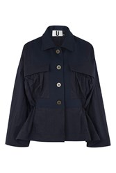 Topshop Redford Jacket By Unique Navy Blue