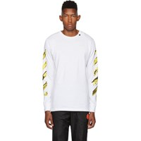 Off White Ssense Exclusive And Yellow Acrylic Arrows Long Sleeve T Shirt