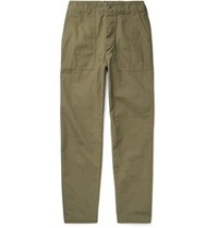 Orslow Cotton Ripstop Trousers Army Green