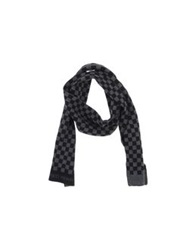 Fred Perry Oblong Scarves Black