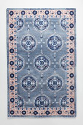 Anthropologie Caroline Rug Blue