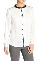 Nine West Button Down Blouse White