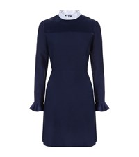 Sandro Stage Ruffle Dress Female Blue