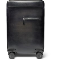 Berluti Formula 1004 Leather Carry On Suitcase Black