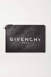 Givenchy Medium Printed Coated Canvas Pouch Black